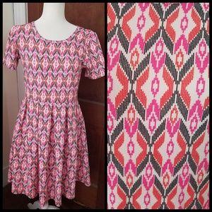 LULAROE Amelia short sleeve Aztec print dress